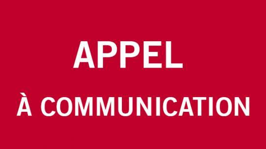 Appel à communication