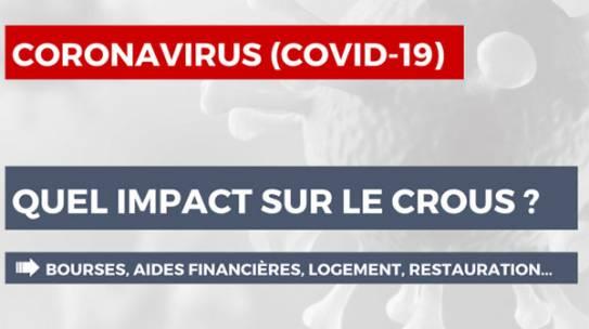 Covid-19 : organisation dans les différents champs de mission du CROUS