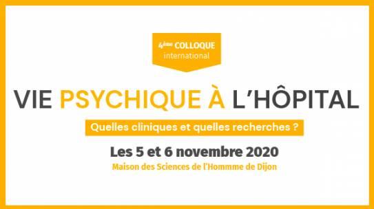 Colloque International « Vie psychique à l'hôpital »